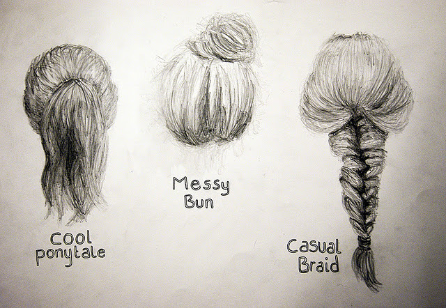 how to draw hairstyles tumblr - photo #11
